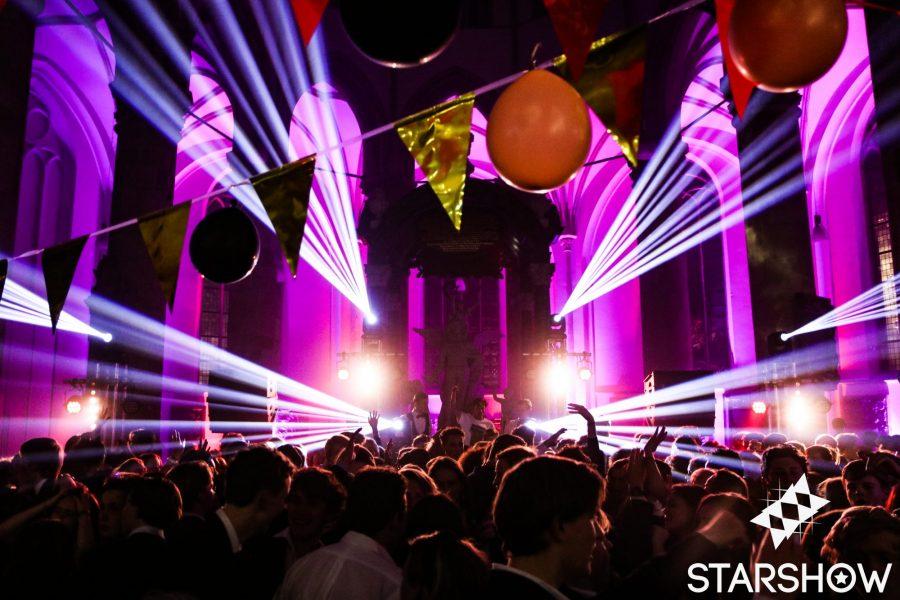 Licht en geluid evenement in Den Haag